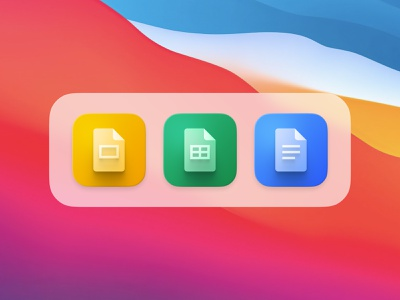 Ultimate Icon Pack Google Suite logos icons icon pack docs google docs dock iphone ios14 macos big sur app icon app icons google google suite