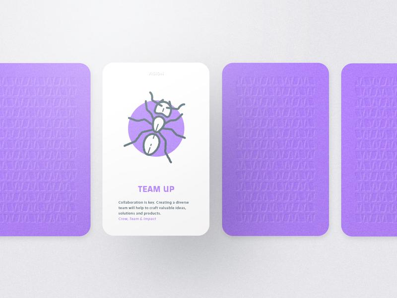 Myndset Card Vision emotion gamification card  game munich kickstarter vector illustration artwork design design thinking print card myndset