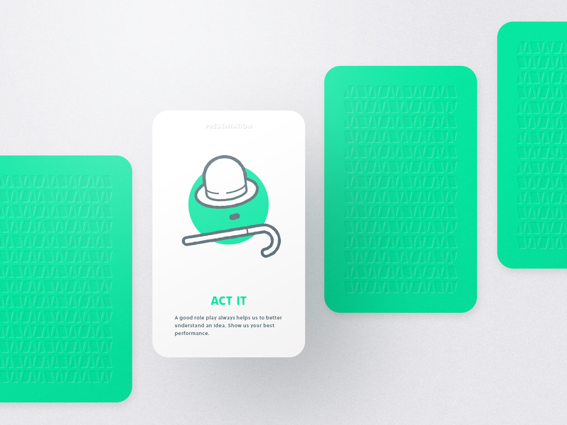 Myndset Card Presentation art typography design icon design thinking charlie chaplin act color neon pattern line illustration paper print game card