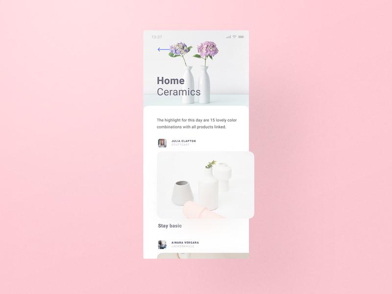 Cream Theme Shopping visual design creamy pink pinky feminin lean clean simple minimal uidesign creamery cx ux ui user interface user experience fluffy cream