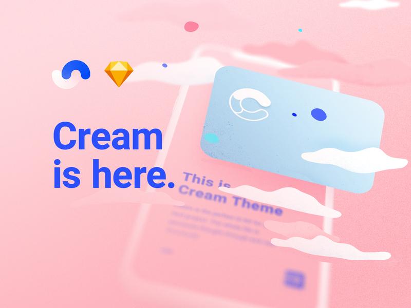 Cream based on Shift Design System web animation icon colors branding logo blur kit sketch app theme ui kit user experience user interface ux ui system design design system shift