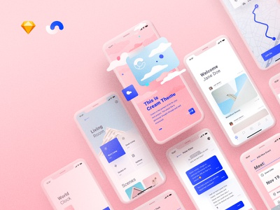 Cream Based On Shift Design System card minimal illustration design thinking clean artwork typography cards design design systems ui kit mockup iphone user experience user interface ux ui ui8 design system shift
