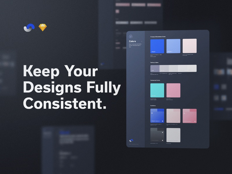 Shift Design System Consistency documentation release live buy symbols atomic components app ux sketch products kits ui shift system design ui8net ui8 frish yung