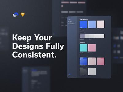 Shift Design System Consistency documentation release live buy symbols atomic components app ux sketch products kits ui shift system design ui8net ui8 frish yung