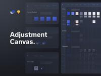 Shift Design System Adjustment Canvas