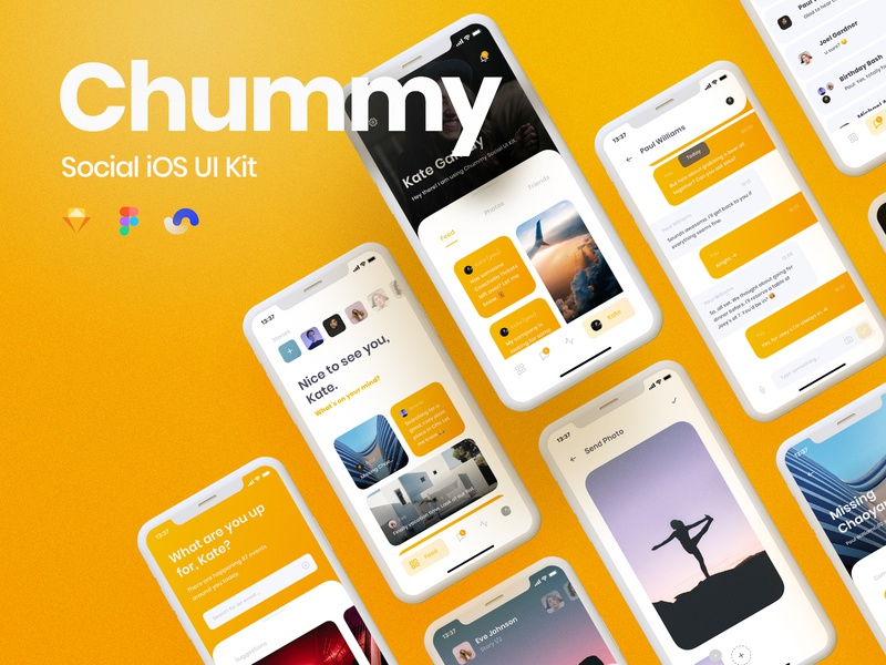 Chummy UI Kit Release yung frish ui8 ui8net design system shift ui kits products sketch ux app components atomic symbols buy live release documentation