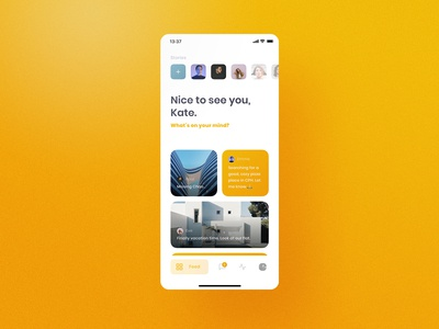 Chummy UI Kit Feed