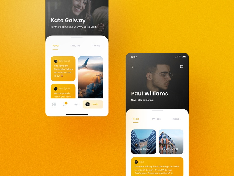 Chummy UI Kit Profile yung frish ui8 ui8net design system shift ui kits products sketch ux app components atomic symbols buy live release documentation