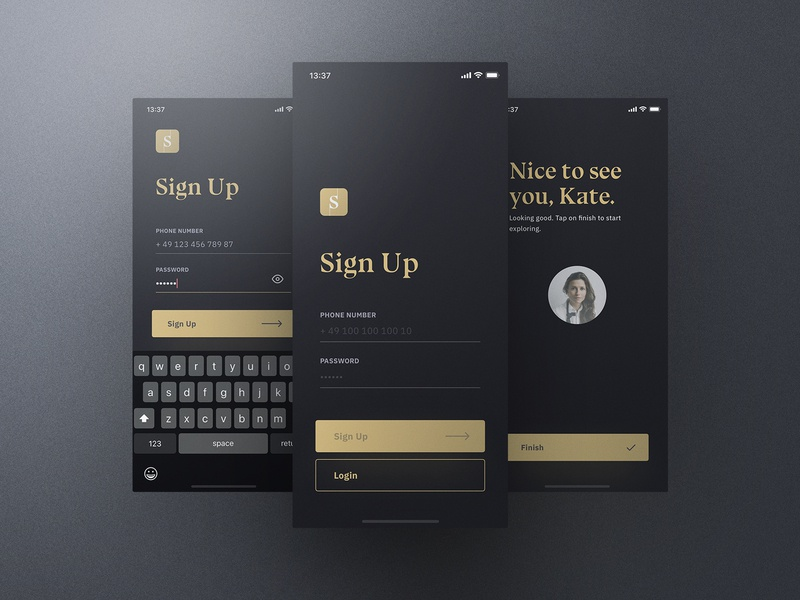 Sheek Food iOS UI Kit Sign Up frish yung cook cooking ui8 professional elegant dark clean recipes order restaurants system design shift kit ui ios food sheek