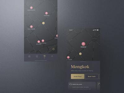 Sheek Food iOS UI Kit Map
