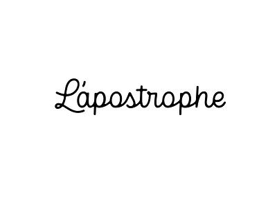 L'apostrophe logo design identity hand lettering type branding wordmark logotype logo lettering typography