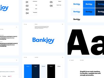 Bankjoy – Brand Guidelines brand guidelines logo design identity type hand lettering branding wordmark logotype typography