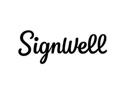 SignWell — Custom Wordmark logo design calligraphy type hand lettering logo wordmark logotype lettering branding typography