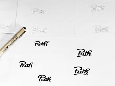 Path - Early Drafts hand lettering custom logotype script draft logo typography type wordmark logotype lettering