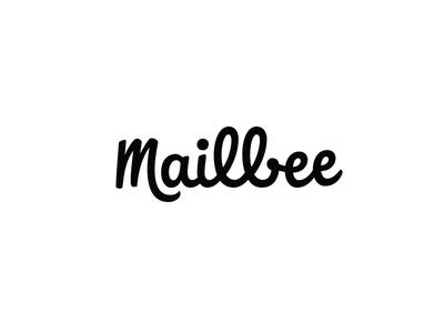 Mailbee - lettering mark logo design hand lettering logo branding identity script wordmark logotype lettering typography type