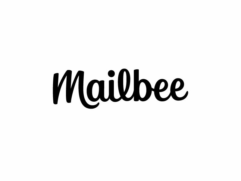 Mailbee wordmark typography type mark script logotype logo design logo lettering identity hand lettering branding