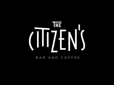 The Citizens lockup coffee bar mark lettering typography branding logo logotype wordmark