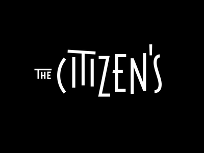 The Citizens - Horizontal lockup type wordmark logotype logo branding typography lettering mark hand lettering handlettering coffee lockup