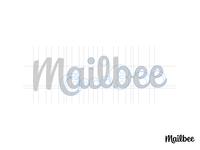 Mailbee - Grids calligraphy handlettering brand identity mark lettering typography branding logo design logo logotype wordmark