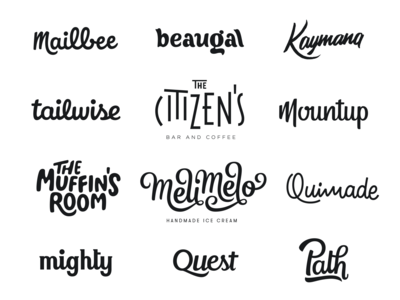 Hand lettered Logos - First Year