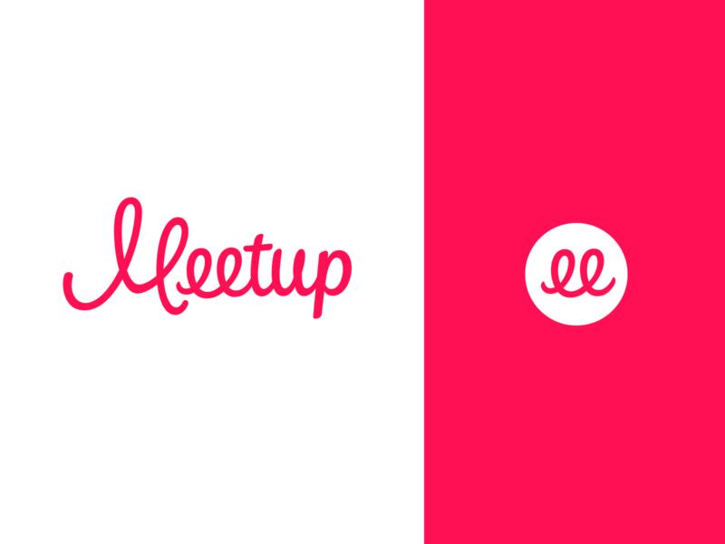 Meetup Logotype Redesign script custom logotype calligraphy logo design identity hand lettering type branding wordmark logotype lettering logo typography