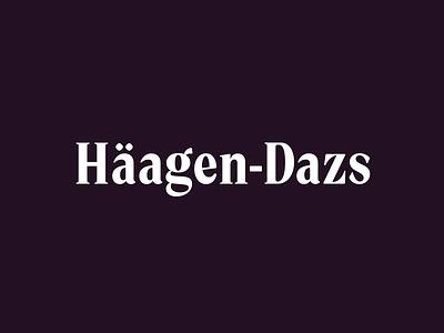 Haagen Dazs (Hand-lettered logo) handlettering calligraphy custom logotype logo design identity hand lettering type branding wordmark logotype lettering logo typography