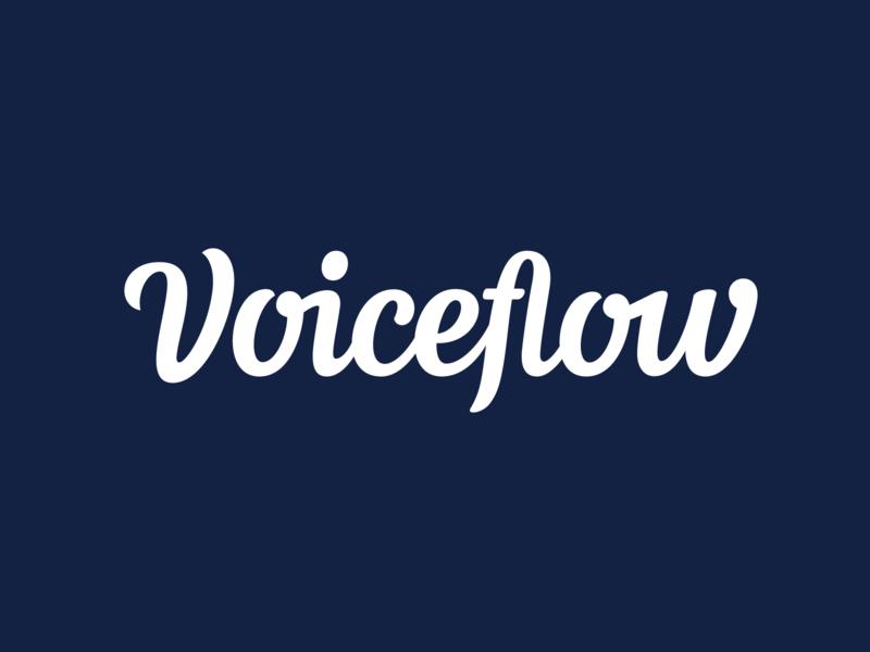 Voiceflow - Custom Logotype brand handlettering calligraphy logo design hand lettering identity type branding wordmark logotype lettering logo typography