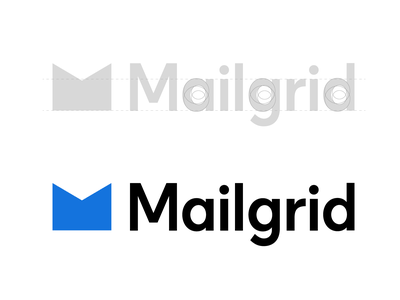 Mailgrid - Custom Logotype mark grid brand logo design type identity hand lettering wordmark logotype logo lettering typography branding