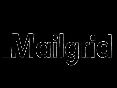 Mailgrid grid logo design hand lettering identity type wordmark logotype lettering logo typography branding