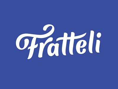 Fratteli - Italian Gelato script custom logotype calligraphy logo design hand lettering identity type branding wordmark logotype lettering logo typography