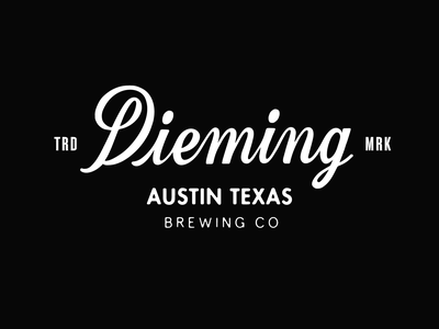 Dieming - Brewing Co brewery text logo logo design hand lettering script calligraphy type wordmark logotype lettering typography branding