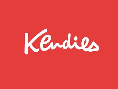 Kendies mark logo design hand lettering identity calligraphy script type branding wordmark logotype lettering logo typography