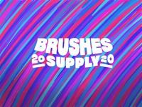 Brushes Supply logo design identity hand lettering type branding wordmark logotype lettering logo typography