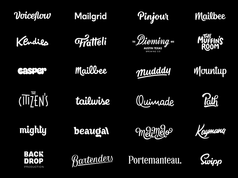 Wordmark wall - 2 years mark logo design brand handmade typeface calligraphy identity type logo wordmark logotype lettering hand lettering branding typography