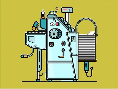 Ryobi Printing Press printing press icon illustration illustrator vector