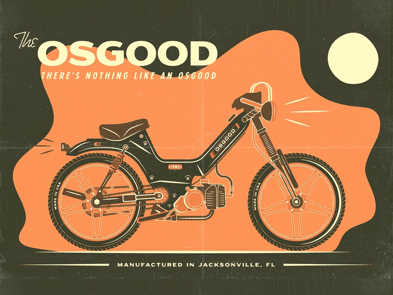 The Osgood Moped logo icon graphic design design illustration vector illustrator