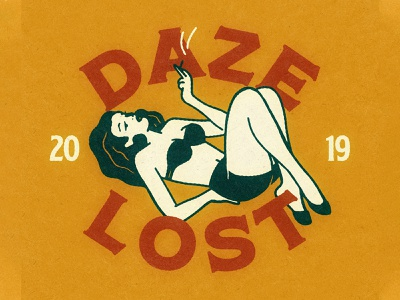 Daze Lost typography graphic design design illustration vector illustrator