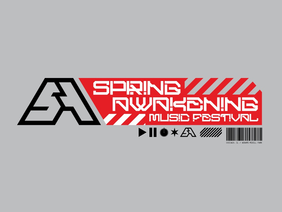 Spring Awakening Merch Outtake font design chicago festival merchandise design outtake music dj edm future typography merch