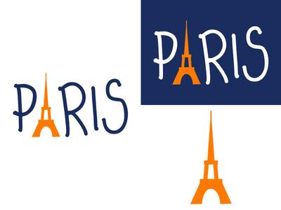 Paris | Week 1 city paris logo design logo identity graphic design typehue cityview challenge branding