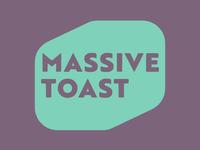 Massive Toast | Week 1 massive toast logo design logo identity graphic design typehue wordsmash challenge branding