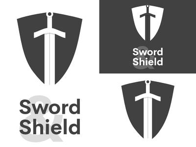 Sword & Shield   Day 12 security thirty logos sword and shield logo design logo identity graphic design challenge branding