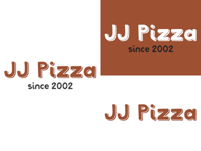 JJ Pizza   Day 13 pizza thirty logos jj pizza logo design logo identity graphic design challenge branding