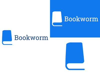 Bookworm   Day 14 bookstore thirty logos bookworm logo design logo identity graphic design challenge branding