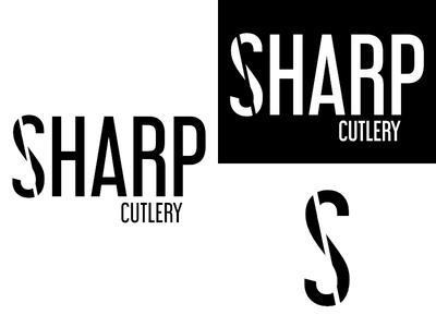 Sharp   Day 16 knives thirty logos sharp logo design logo identity graphic design challenge branding
