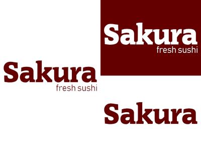 Sakura   Day 18 sushi thirty logos sakura logo design logo identity graphic design challenge branding