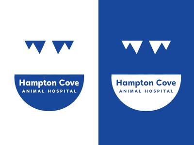 Hampton Cove Animal Hospital   Day 19 animal thirty logos hampton cove logo design logo identity graphic design challenge branding