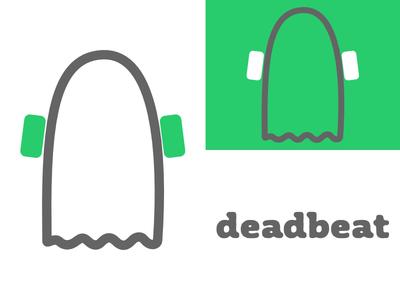 Deadbeat   Day 23 music thirty logos deadbeat logo design logo identity graphic design challenge branding