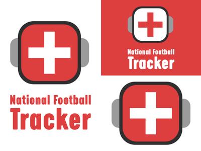 National Football Tracker   Day 27 football thirty logos logo design logo identity graphic design challenge branding