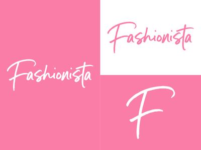 Fashionista   Day 28 clothing thirty logos fashionista logo design logo identity graphic design challenge branding