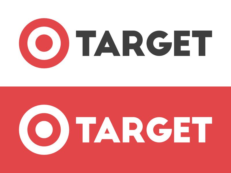 Target Logo Redesign illustrator creative clean minimal graphic design vector flat art illustration icon typography redesign identity logo design graphic branding design logo target